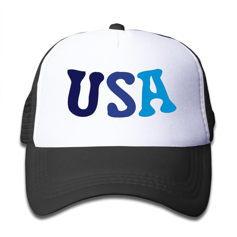 Gsyful Youth Children Kids Rock USA Txt -3 Baseball Cap Hat Snapback Black