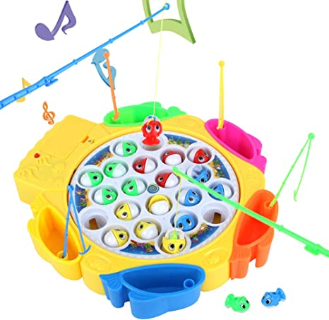 Juego de Pesca Musica Juguete de Pesca con Cañas Pescar Juegos Creativos Juguetes Eléctrico Educativos para Niñas Niños 3 Años - Peces Coloridos: Amazon.es: Juguetes y juegos