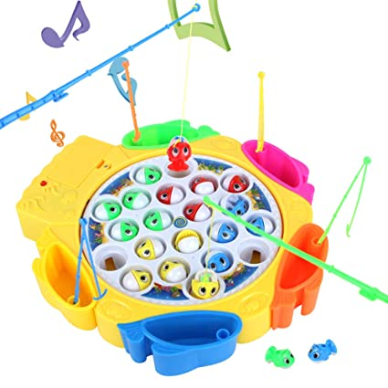 Fish Game Go Fishing Toys Set Birthday Gift Presents For Baby Kids Children Boys Girls 3 4 5 Years Old Amazoncouk Kitchen Home