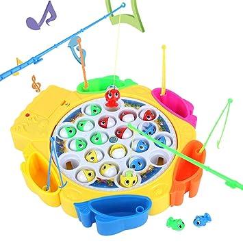 Hcheng Toys Juegos De Mesa Pesca Juguetes Set Electronico Musical