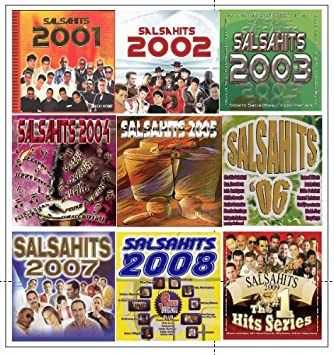 9 Different CDs SALSAHITS 2001 - 2009 by Tito Rojas, Willie Chirino, Eddie Palmieri