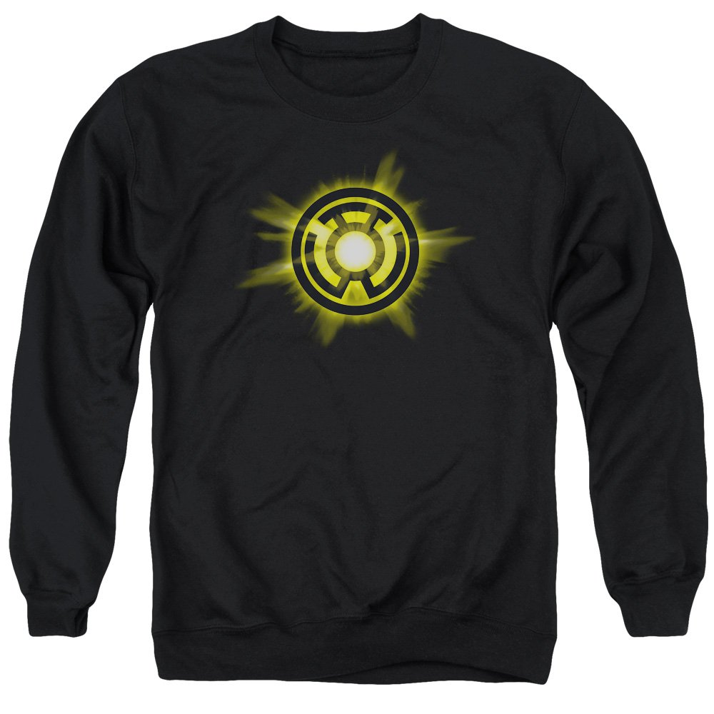 Green Lantern Mens Yellow Glow Sweater