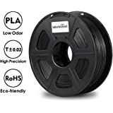 3D Printer Filament - Black 1.75 mm PLA Filament, Dimensional Accuracy +/- 0.02 mm Low Odor 3D Printing Filament, 2.2 lbs Spool 1.75 mm Filament PLA 3D Filament for Most 3D Printer & 3D Pen