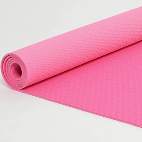 Textura de la hoja antideslizante Pilates Yoga Mat, alargar ...