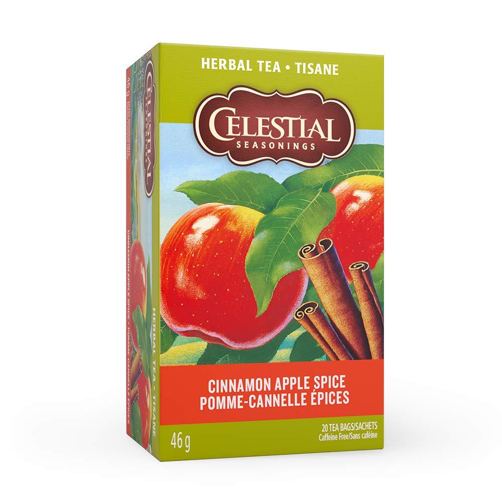 Celestial Seasonings Cinnamon Apple Spice Caffeine Free Herbal Tea 20 ct (Pack of 6)