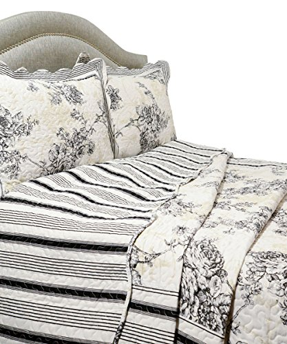 Pegasus Home Fashions Vintage Collection Emory Quilt Plus Sham Set, Full/Queen