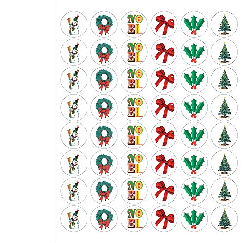 (Assorted Holiday Envelope Seals - 1.2