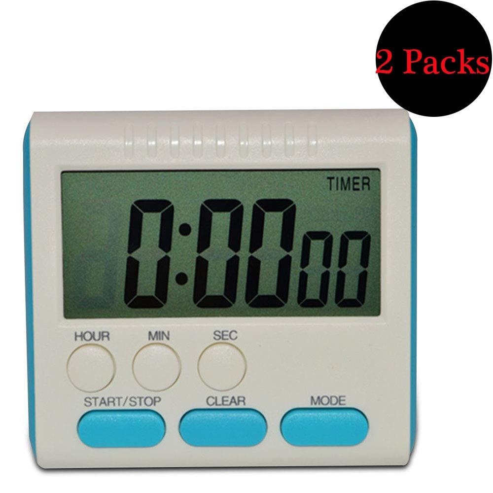 Busirde Conteggio del Tempo Digitale Magnetico Ampio Display LCD Timer da Cucina Digital Alarm Up /& Down Clock 24 Ore