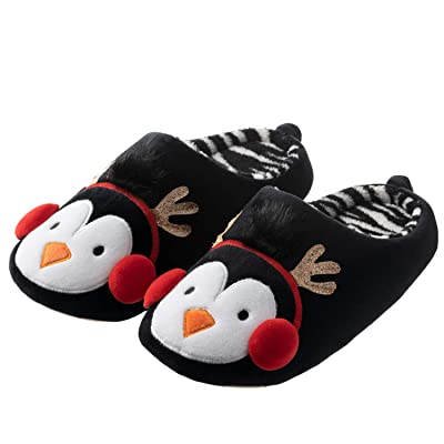 Tofern Mens and Womens Cute Fuzzy Animal Slippers Memory Foam Fun House Slippers for Halloween Christmas | Slippers