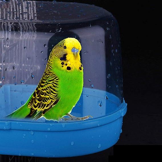 Pájaro Bañera de agua para mascotas Jaula de pájaros Colgante ...