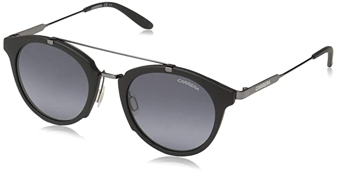 36e754030 Carrera Men's Ca126s Round Sunglasses Black Dark Ruthenium/gray Gradient 49  mm