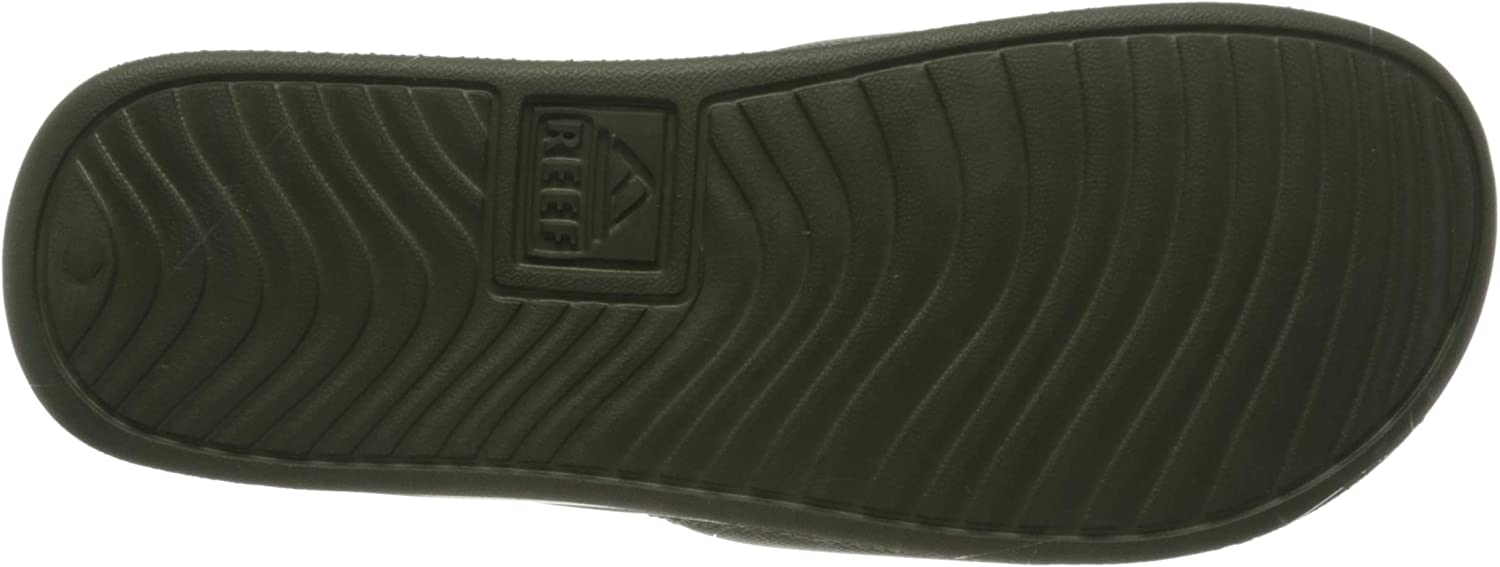 REEF Men's Flip Flop Slide Sandal, Black: Shoes