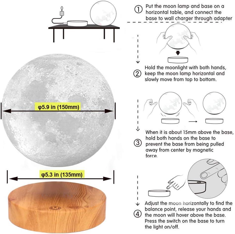 floating moon lamp