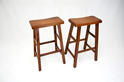 Pleasant Set Of 2 Heavy Duty Saddle Seat Bar Stools Counter Stools Ocoug Best Dining Table And Chair Ideas Images Ocougorg
