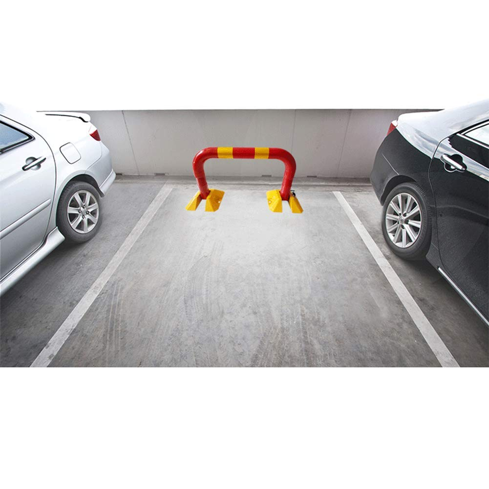 Car Parking Space Saver Lock Heavy Duty Fold Down Metal Bollard Park Driveway Barrier Alarmed