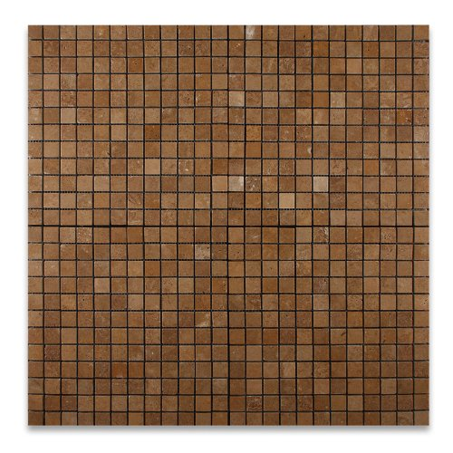 Noce Ceramic Tile - Noce 1X1 Travertine Tumbled Mosaic Tile