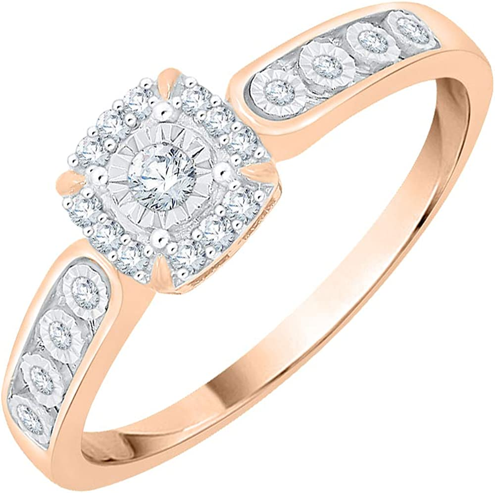 Diamond Wedding Band in 10K Yellow Gold G-H,I2-I3 Size-7.75 1//8 cttw,
