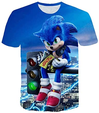 Amazon Com Boys Cartoon Sonic Clothes 3d Funny T Shirts Costume Children Kids Tees Top Baby T Shirts Clothing