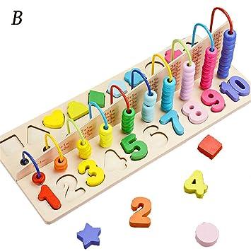 Holz Zahlen Puzzle frühe pädagogische Math Spielzeug für Kleinkinder 10