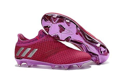 kiediskinker zapatos para hombre Messi 16 + pureagility fgag rosa rojo de  fútbol botas de fútbol 22931ea6f08e2