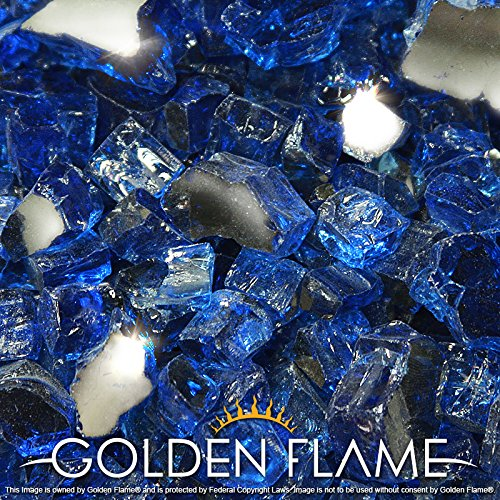 Golden Flame 20 Pound Reflective Fireplace
