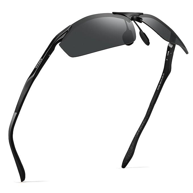 22a4455077 Soxick Polarized Sports Sunglasses For Men UV400 Metal Men s Fashion Retro  Wayfarer Driving Sunglasses