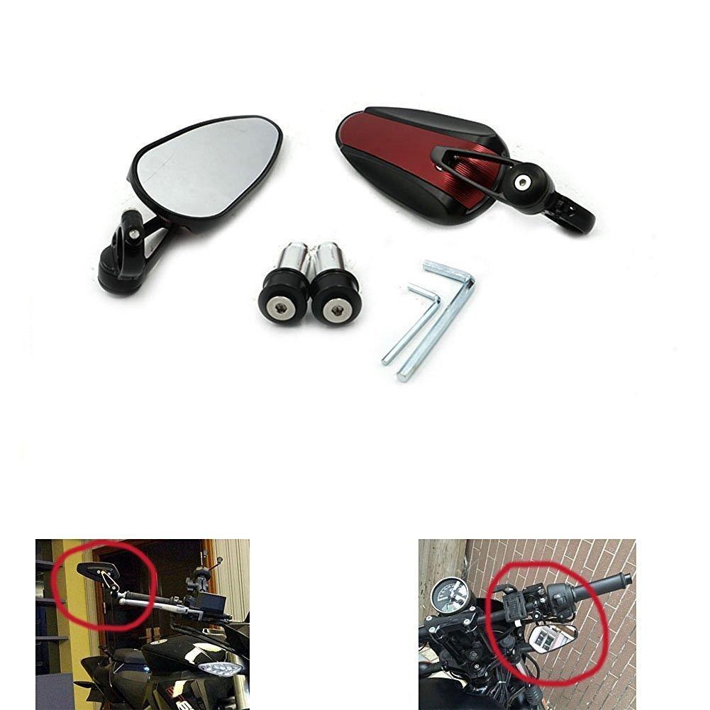 Alpha Rider CNC Aluminium 7//8 22mm Poign/ée Bar R/étroviseur C/ôt/é R/étroviseurs 360 Degr/és R/églable Pour Yamaha YZF R125 R15 R25 R 125 15 25 mt-07 mt-09 mt 07 09 MT-09 FZ07 FZ09