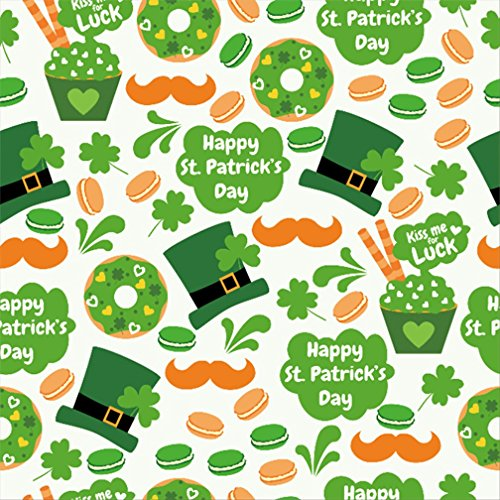 AOFOTO 5x5ft Happy St Patrick's Day Background Lucky Clover Doughnut Photography Backdrop Abstract Beard Spring Luck Shamrock Dessert Leprechaun Hat Macaroon Photo Studio Props Party Decor Wallpaper -