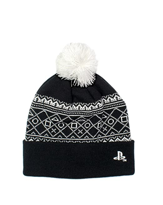 631c0ad5ee5 Numskull Official Playstation 4 Bobble Hat Beanie  Amazon.ca  Clothing    Accessories