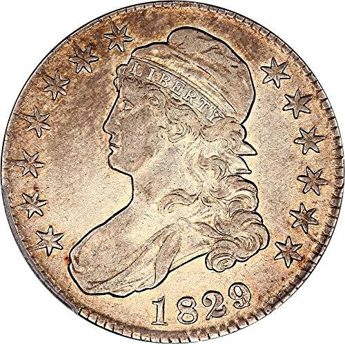 1829 P Bust Half Dollars 1829/7 Half Dollar XF40 PCGS