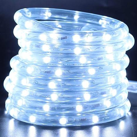Amazon Com Xunata 20ft 2 Wire Waterproof Led Rope Light