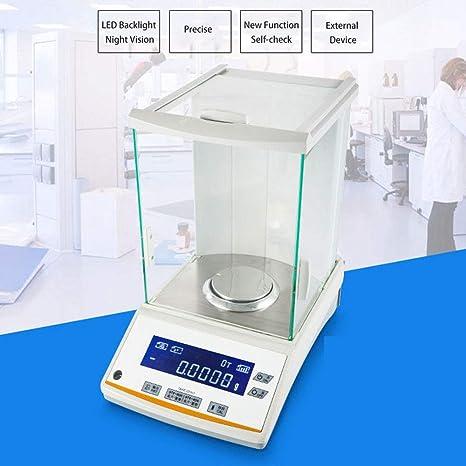 ZHLZH Balanza Analítica Digital, Laboratorio analítica electrónica balanza de Laboratorio Digital balanza de Oro balanza de precisión para Laboratorio/Farmacia/joyería/Planta química,120g/0.1mg: Amazon.es: Deportes y aire libre