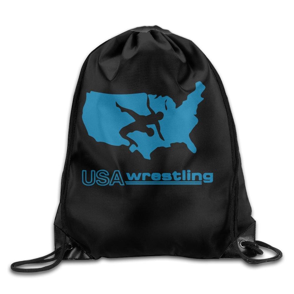 USA Wrestling Drawstring Pack Beam Mouth Sport Bag Shoulder Bags For Men & Women by 05_&_NG