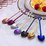 Clearance Sale!DEESEE(TM)Colorful Spoon Handle Small Soil Shovel Spoons Flatware Ice Cream Drinking Tools Kitchen Gadget (Multicolor)