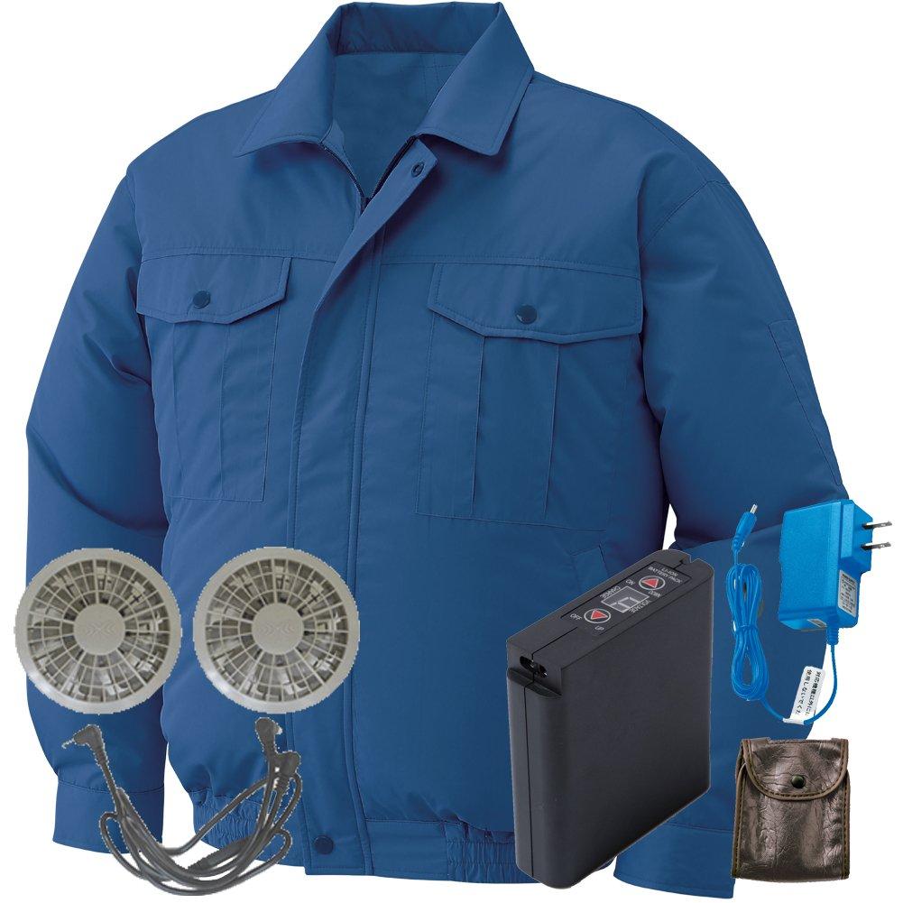 空調服 セット[KU90540ブルゾン+FAN2200グレーファン+LI-ULTRAIリチウムバッテリー] B0785HTS9P 4L|14 ダークブルー 14 ダークブルー 4L
