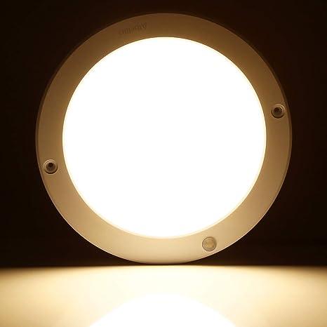 Albrillo Motion Sensor Led Ceiling Light 100w Equivalent 1200lm Led Light Fixtures For Kitchen Basement Bathroom Bedroom Closet Warm White 3000k