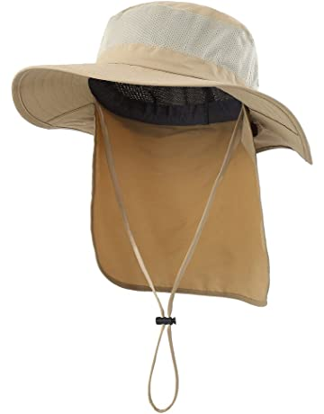 uk availability 88f77 8857c Home Prefer Outdoor UPF50+ Mesh Sun Hat Wide Brim Fishing Hat with Neck Flap