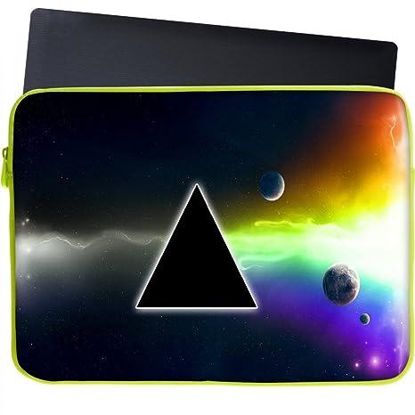 "Snoogg Abstarct negro triángulo funda 17 ""pulgadas a 17,5 pulgadas a 17"