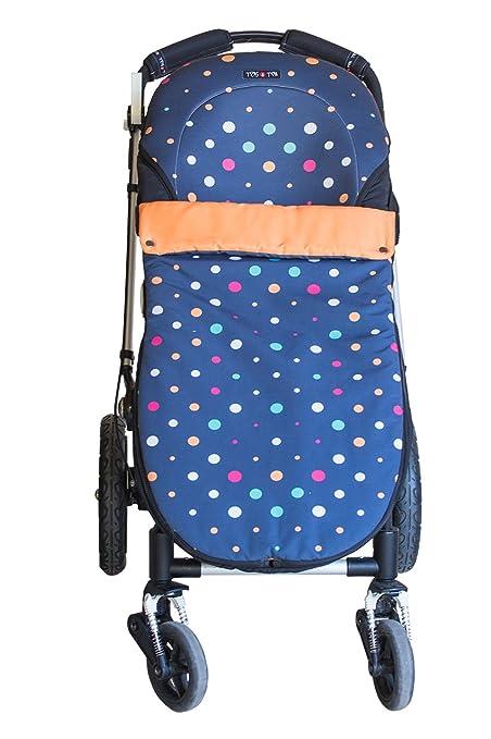 Tris&Ton Sacon convert 2 en 1 silla de paseo para bebe modelo Topitos oscuro, saco