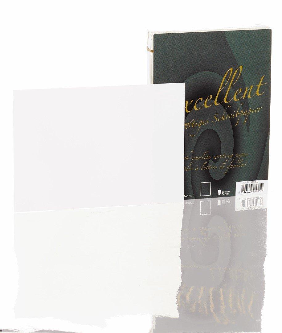 Roessler Papier - Biglietti doppi con buste Excellent, 10 pezzi, colore: Bianco 20231711 530257