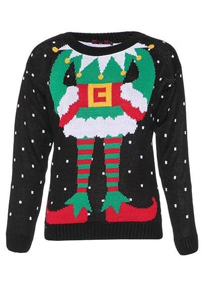 selezione premium 49978 de718 Fast Fashion da Donna Maglioni Celebrity Ispirato Elfe Stampa gestrickten  Natale