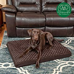 Give your best friend the support they need with a luxuriously soft Furhaven Deluxe Orthopedic Mat Ultra Plush Faux Fur Traditional Foam Mattress Pet Dog Bed. Featuring deep, convoluted (egg crate) style foam core, this pet bed soothes pressu...