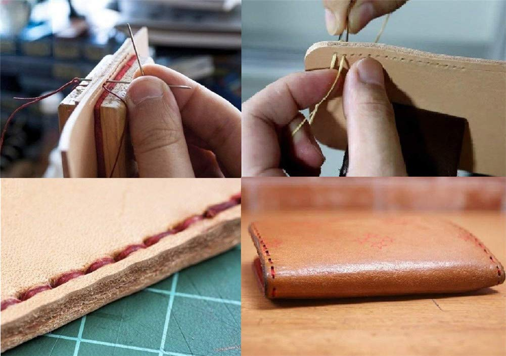 Waxed Thread Qincling 19 PCS Bookbinding Tools Set DIY Bookbinding Crafts and Sewing Supplies Large-eye Needles,Ruler for Handmade Books Bookbinding Starter Kit Bone Folder Paper Creaser Awl