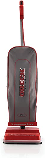 Oreck Commercial Upright Bagged Vacuum Cleaner, Lightweight, 40ft Power Cord, U2000R1,