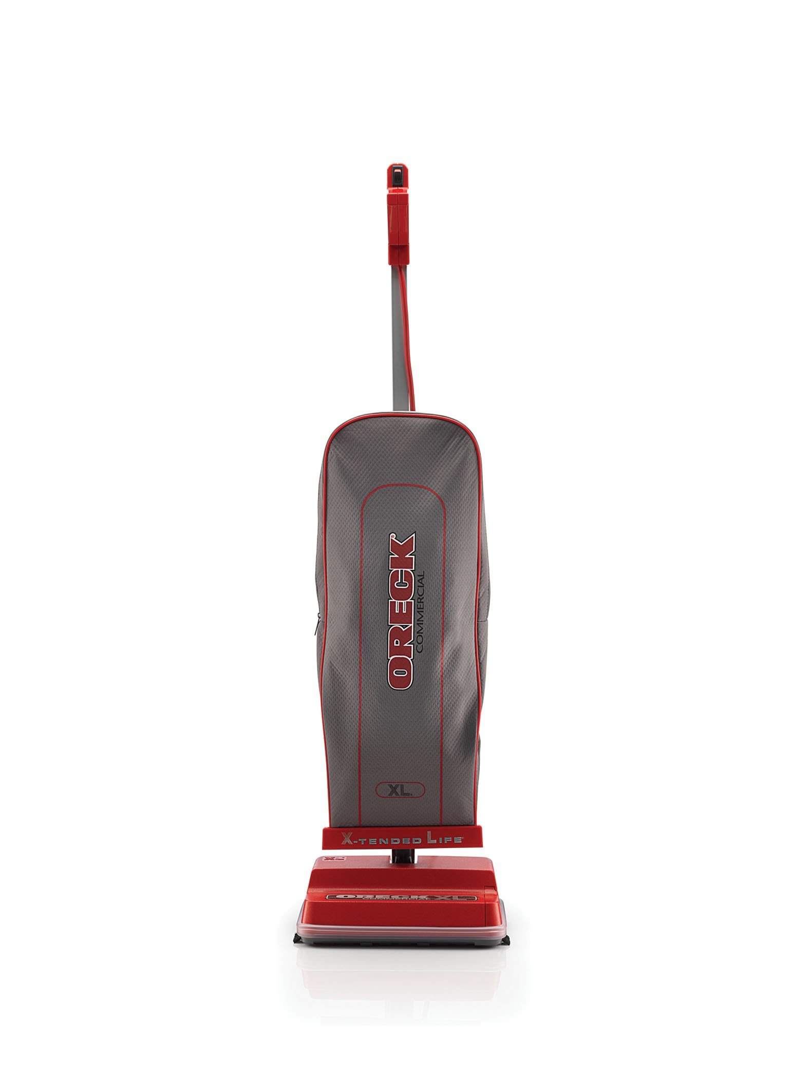 Oreck Commercial Upright Bagged Vacuum Cleaner, Lightweight, 40ft Power Cord, U2000R1, Grey/Red by Oreck Commercial