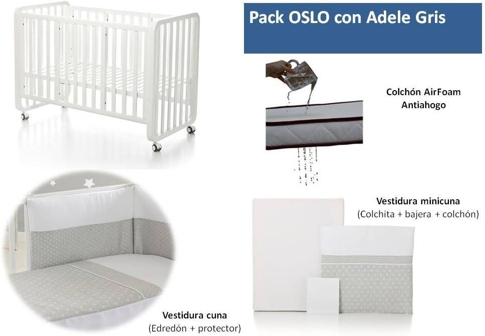 Bolin Bolon Pack Cuna-minicuna colecho OSLO completa ADELE GRIS ...