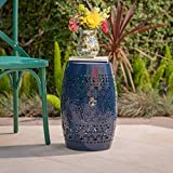 """Riley Outdoor 12"""" Dark Blue Iron Side Table"""