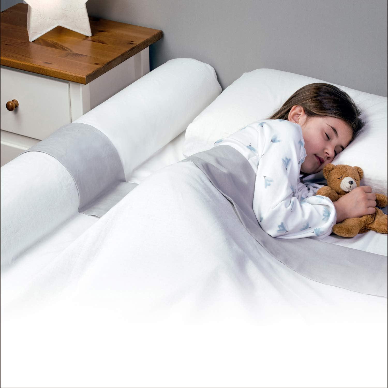 BANBALOO- Barrera de Seguridad cama niño - Anticaídas infantil/Barandilla de Espuma Antideslizante de Viaje Transportable, para camas de matrimonio, abatibles, 150 cm,180 cm, Nido, tipi y Montessori