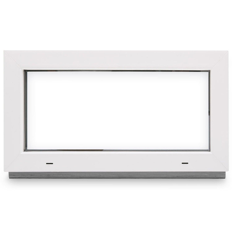 BxH: 120x60 cm verschiedene Ma/ße Kunststoff FIB Kellerfenster 60mm Profil Festverglasung - wei/ß schneller Versand 2-fach-Verglasung