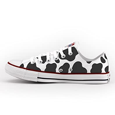 236b3357ce62 Converse All Star Low Customized and Printed - handmade shoes - Italian  Brand - Cow  Amazon.co.uk  Shoes   Bags